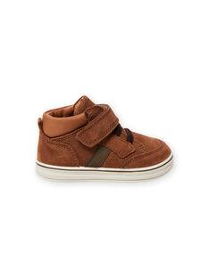 Baby Junge Wildleder-Sneakers in Kamelhaar MUBASIMA / 21XK3871D3F804