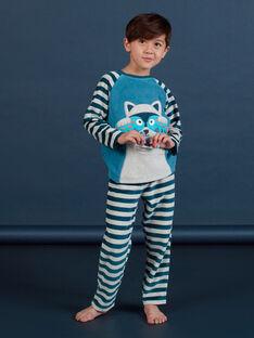 Pyjama-Set für Jungen mit grauem Waschbär MEGOPYJRAC / 21WH1286PYJC235