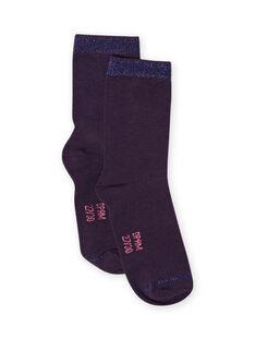 Blaue Socken für die Nacht der Mädchen MYAJOCHO4 / 21WI0116SOQH703