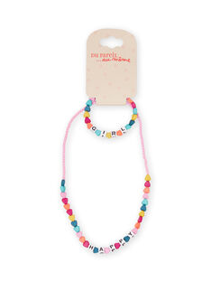 Child girl's multicolored heart beads Halskette MYAJOCOU1 / 21WI01S1CLI961