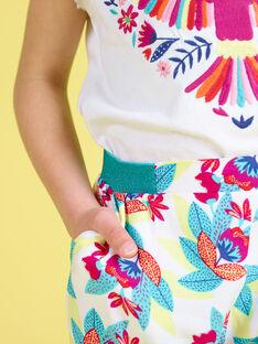 Weich fließende, bedruckte Hose mit elastischem Hosenbund JAMARPANT / 20S901P1PAN000