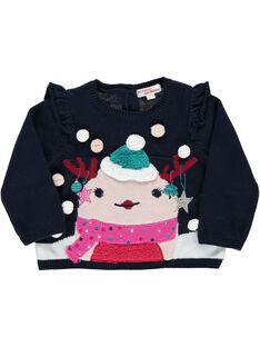 Baby girls' Christmas sweater DICRAPUL2 / 18WG09R2PUL070