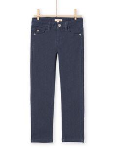 Einfarbig marineblaue Jeans für Jungen MOJOPAKNI2 / 21W90226PANC202