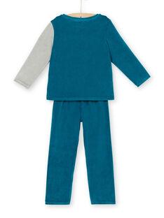 Samtene Kinder-Pyjama-Junge-Wolf-Animation LEGOPYJLOU / 21SH1214PYJ209