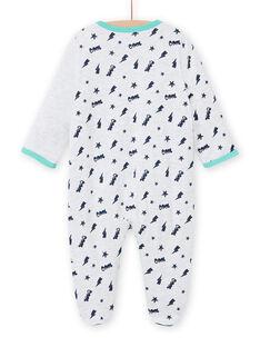 Grauer Katzen-Strampler für Baby-Jungen MEGAGRECHA / 21WH1495GREJ920