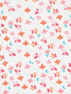 Langärmeliger Mädchen-Layette-Body mit Blumendruck LEFIBODBOU / 21SH1327BDL001