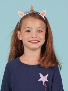 Einhorn-Stirnband für Mädchen mit Glitzer MYAJOSERR3 / 21WI01S3TETP275