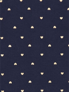Marineblau-goldene Herzdruckweste für Mädchen LIJOCAR3 / 21SG0942CAR070