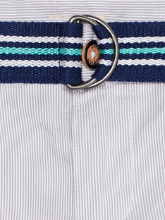 Festliche Hose für Jungen mit feinen grauen Streifen JOPOEPAN / 20S902G1PAN940