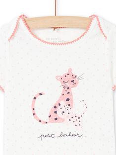 Baby Mädchen rosa und ecru Strampler MEFIBODCAL / 21WH13B2BDL001