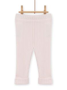 Baby Mädchen einfarbig rosa gerippte Leggings MYIJOLEGCO2 / 21WI0913CAL632