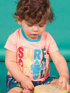 Kurzarm-T-Shirt Pfirsich Baby Boy LUBONTI3 / 21SG10W2TMCD311