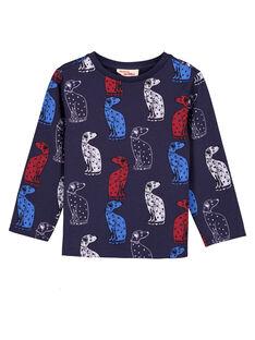 Bedrucktes Marineblaues T-Shirt  GOTRITEE2 / 19W902J3TMLC224