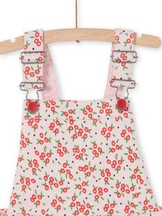 Latzhosen-Kleid mit Blumendruck LAROUROB2 / 21S901K2ROBD326