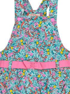 Baby-Latzkleid mit Blumenmuster für Mädchen FICUROB3 / 19SG09N3ROB202