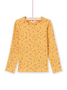 Mädchen-T-Shirt in Orange und Rot MAJOUTEE3 / 21W9012DTMLB106