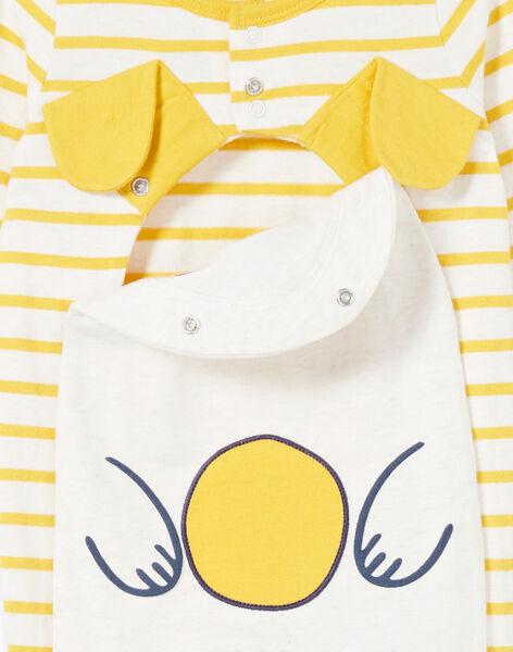 Baby-Jungen-Schlafanzug aus gestreiftem Jersey mit Welpen-Design LEGAGRECHI / 21SH1457GRE006