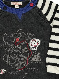 Dark grey Pullover CUBENPUL / 18SG10G1PUL944