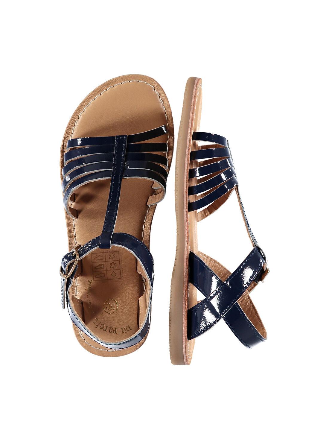 Sandalen aus Lackleder für draußen Mädchen