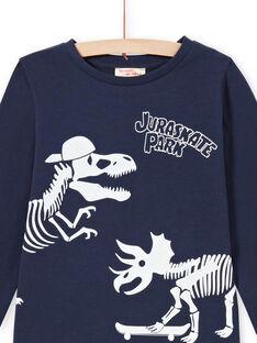Langarm-T-Shirt für Mädchen mit Leoparden-Print MEGOPYJGLOW / 21WH1236PYJ705