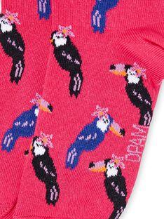 Rosa Grenadine Socken Kind Mädchen LYANAUCHO / 21SI01P1SOQF507