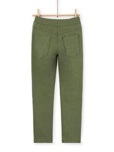 Grüne Baumwollhose für Jungen LOJOPAN2 / 21S90234PANG631