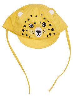 Bestickter Babyjunge Tiger gelbes Käppchen JYUTROCASQ / 20SI10F2CHAB114