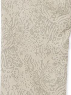 Hose aus grauer Baumwolle mit Wildtier-Print LOBLEPAN1 / 21S902J1PAN811