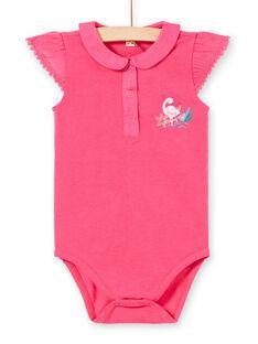 Rosa ausgefallene Baby-Mädchen-Bodysuit LIBONBOD / 21SG09W1BOD302