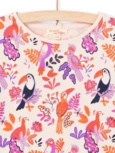 Langarm-T-Shirt für Mädchen mit Vogelmotiv MAPATEE / 21W901H1TMLD319