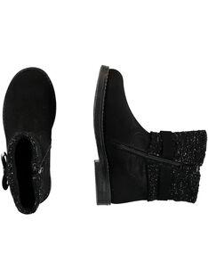 Schwarze Stiefel Kind Mädchen GFBOOTRICO / 19WK35X1D0D090