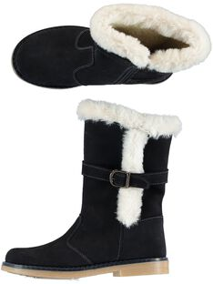 Warme Stiefel Lackleder marineblau Kind Mädchen GFBOTTERINE / 19WK35Y3D10070
