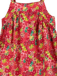 Leichtes Babykleid mit Trägern für Mädchen FIYEROB1 / 19SG09M1ROB000