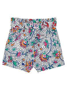 Bedruckte Baby-Shorts für Mädchen FITOSHO1 / 19SG09L1SHO000