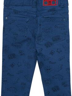 Blaue Hose für Jungen, Slim Fit, bedruckt JOGRAPAN2 / 20S902E1PAN622