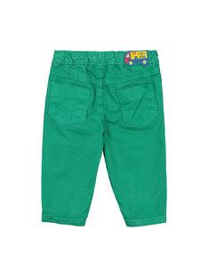 Grüne Babyhose für Jungen FUJOPAN3 / 19SG1033PANG603