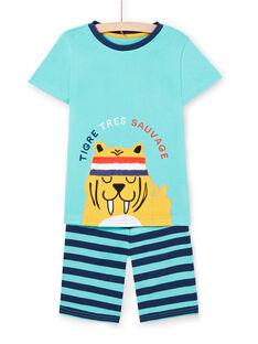 Türkisblauer Schlafanzug für Jungen LEGOPYCTIG / 21SH12C2PYJC242
