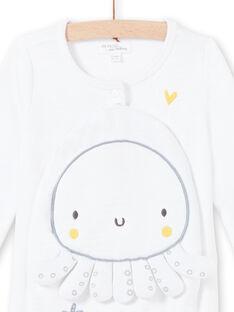 Baby Junge weißer Strampler mit Stickerei LOU2GRE3 / 21SF05I1GRE000