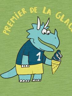 Grünes Baumwoll-T-Shirt Kind Junge LOJOTI6 / 21S90236TMCG626