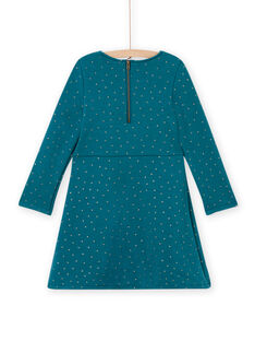 Baby Mädchen entenblaues Fleece-Skaterkleid MAJOLROB3 / 21W901N2ROB714