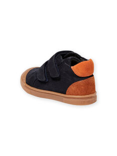 Baby Junge marineblaue Scratch-Sneakers MUBASBOUT / 21XK3881D3F070
