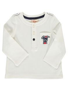 Baby boys' ecru long-sleeved T-shirt DUJOTUN4 / 18WG1037TML001