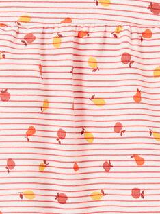 Rosa und orange gestreiftes Baby Mädchenkleid LINAUROB2 / 21SG09L1ROB318