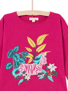 Baby Mädchen fuchsia Zebra drucken Langarm-T-Shirt MATUTEE1 / 21W901K3TMLD312