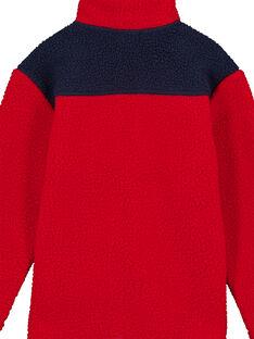Gefütterte Fleecejacke Rot und Marineblau GOTRIGIL / 19W902J1GIL050