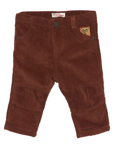 Zimtfarbene Baby-Samthose für Jungen GUBRUPAN2 / 19WG10K2PAN809