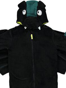 Überpyjama mit Fledermaus aus weicher Boa Kind Junge GEGOSURCHAU / 19WH12N1D4F090