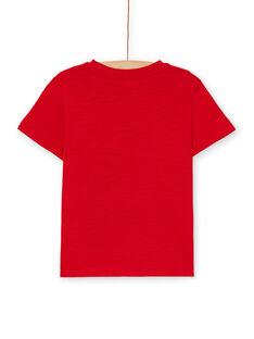 Rotes Baumwoll-T-Shirt für Jungen LOJOTI4 / 21S90232TMC050
