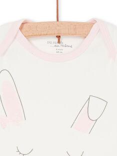 Aus weiß und rosa Baby-Mädchen-Bodysuit LEFIBODLAP / 21SH13G6BDL001