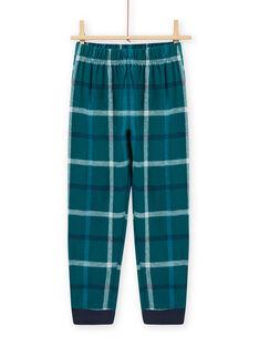 Saphirblaues Pyjama-Set mit YEAH-Motiv für Kind Junge MEGOPYJYEAH / 21WH1296PYJC211